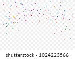 colorful confetti and star... | Shutterstock .eps vector #1024223566