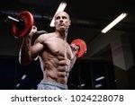 bald brutal sexy strong... | Shutterstock . vector #1024228078