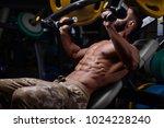 sexy strong bodybuilder... | Shutterstock . vector #1024228240