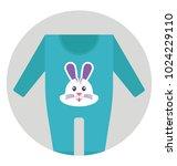 baby romper  long sleeves...   Shutterstock .eps vector #1024229110