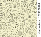 a set of doodles for the summer ... | Shutterstock .eps vector #1024230184