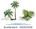 vector set of palm  trees. part ... | Shutterstock .eps vector #102423100