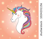 unicorn on background with... | Shutterstock .eps vector #1024231156