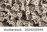 numerous game dice in a... | Shutterstock . vector #1024233544
