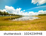 lake in insaniah university ... | Shutterstock . vector #1024234948
