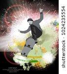 skateboarder trick  sport... | Shutterstock .eps vector #1024235554