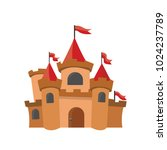 big kings castle isolated on... | Shutterstock .eps vector #1024237789