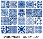 vector tiles patterns. seamless ... | Shutterstock .eps vector #1024240654