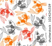 seamless pattern with karp koi. ... | Shutterstock .eps vector #1024241539
