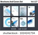 set of design of brochure ...   Shutterstock .eps vector #1024241734