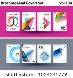 mega set of abstract templates...   Shutterstock .eps vector #1024241779