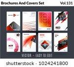 set of design of brochure ... | Shutterstock .eps vector #1024241800