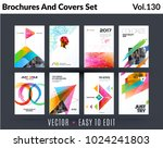 set of design of brochure ... | Shutterstock .eps vector #1024241803