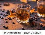 whiskey  brandy or liquor ...   Shutterstock . vector #1024241824