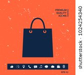 shopping bag symbol | Shutterstock .eps vector #1024254340