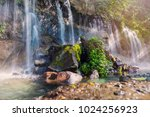 seven waterfalls in juayua.... | Shutterstock . vector #1024256923