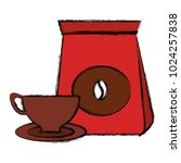 coffee bag with cup | Shutterstock .eps vector #1024257838