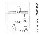 supermarket shelving with... | Shutterstock .eps vector #1024259260