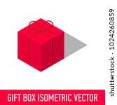 isometric isolated gift present ... | Shutterstock .eps vector #1024260859