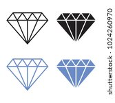 diamond vector icon | Shutterstock .eps vector #1024260970