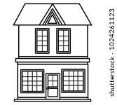 big building facade front | Shutterstock .eps vector #1024261123