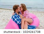pretty girl biting her... | Shutterstock . vector #1024261738