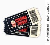 cinema ticket. template of...   Shutterstock .eps vector #1024262878