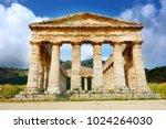 ancient greek temple of segesta ... | Shutterstock . vector #1024264030