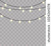 christmas lights isolated on... | Shutterstock .eps vector #1024264378