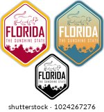 florida vector label with palms ... | Shutterstock .eps vector #1024267276