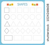 learn shapes and geometric... | Shutterstock .eps vector #1024268608