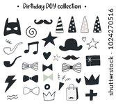 unique hand drawn birthday boy...   Shutterstock .eps vector #1024270516