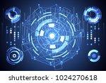 abstract technology ui... | Shutterstock .eps vector #1024270618