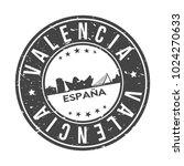 valencia spain round stamp icon ... | Shutterstock .eps vector #1024270633