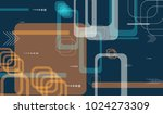tech pattern. colorful... | Shutterstock .eps vector #1024273309
