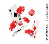 casino poker design template.... | Shutterstock .eps vector #1024274326
