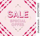 vector design. sale banner in... | Shutterstock .eps vector #1024275883