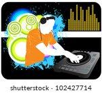 dj mixing background | Shutterstock .eps vector #102427714
