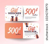 set of colorful gift vouchers... | Shutterstock .eps vector #1024278970