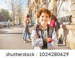 teen walking around the streets ... | Shutterstock . vector #1024280629