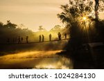silhouette of  tourist in the...   Shutterstock . vector #1024284130