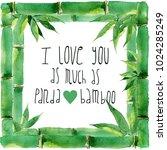 raster vivid bamboo frame... | Shutterstock . vector #1024285249