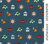 seamless pattern with cute... | Shutterstock .eps vector #1024286938