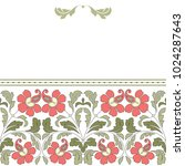 floral pattern for invitation... | Shutterstock .eps vector #1024287643