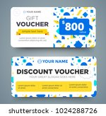 discount voucher template with... | Shutterstock .eps vector #1024288726