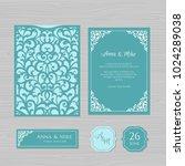 wedding invitation or greeting... | Shutterstock .eps vector #1024289038