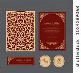 wedding invitation or greeting... | Shutterstock .eps vector #1024289068