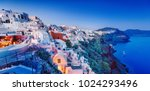 santorini  beautiful and famous ... | Shutterstock . vector #1024293496