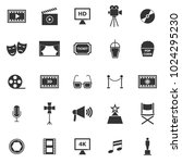 movie icons on white background ... | Shutterstock .eps vector #1024295230