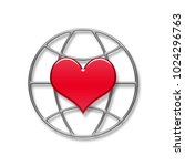 illustration with a heart... | Shutterstock . vector #1024296763